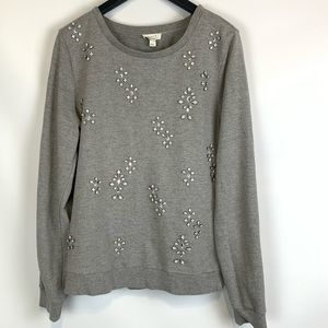 Soft joie crystal gem sweatshirt